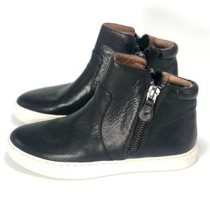 Kenneth Cole Black Leather High Top Sneakers 5.5
